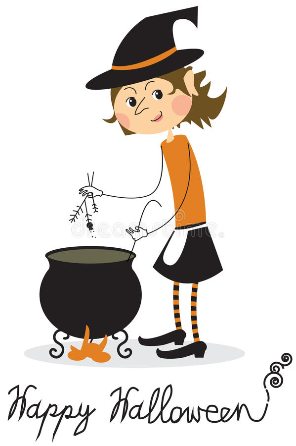 Download Witch and cauldron stock vector. Image of ideas, halloween - 33462626