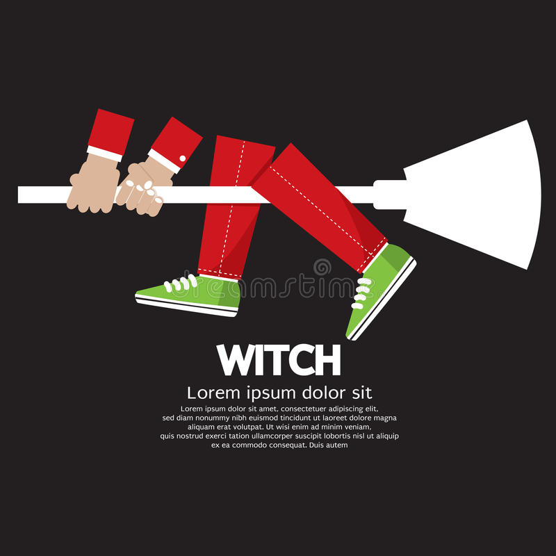 Download Witch stock vector. Image of vector, beautiful, broom - 39794544