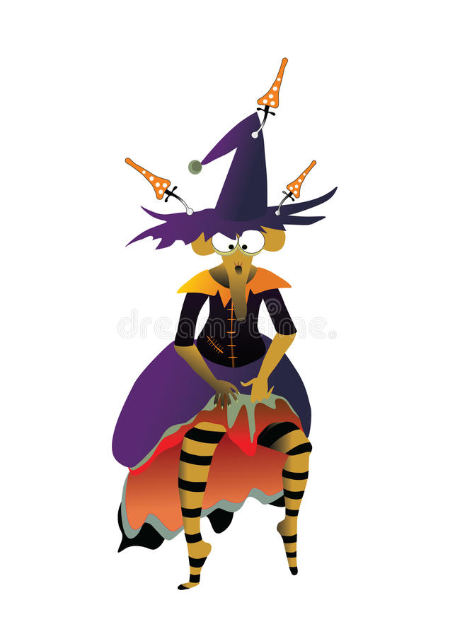 Download Witch dance stock vector. Image of halloween, stockings - 16106693
