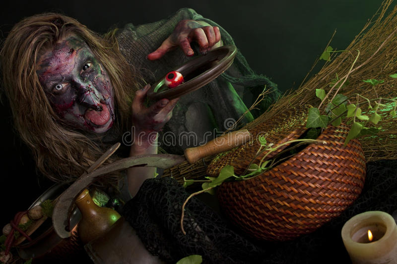 Download Witch with eye on a plate stock photo. Image of horror - 33098724