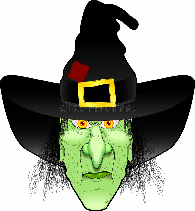 Witch_face vector illustratie