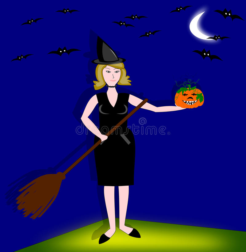 Download Witch Halloween stock illustration. Illustration of magic - 11310485