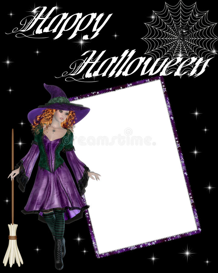 Download Witch Happy Halloween Scrapbook Stock Illustration - Illustration of spider, purple: 11129987