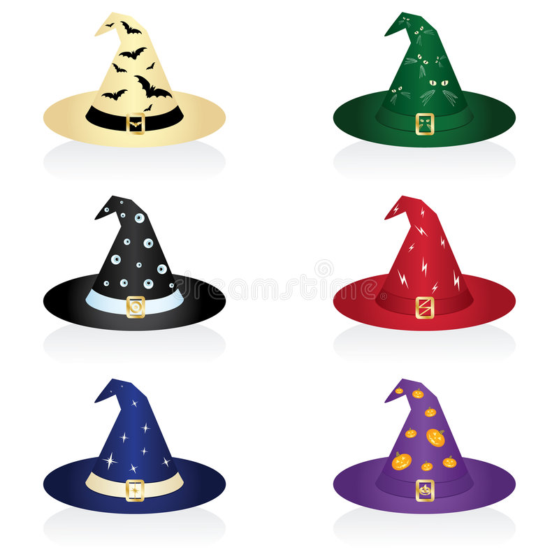 Download Witch hat stock vector. Image of computer, fortune, magic - 6429191