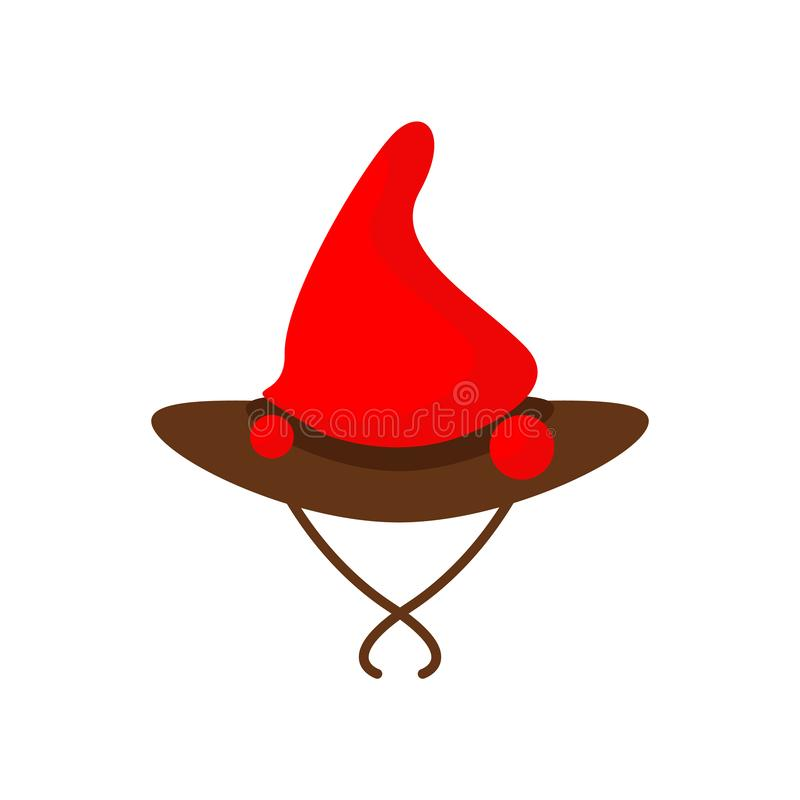 Witch hat icon vector isolated on white background, Witch hat sign , colorful symbols royalty free illustration