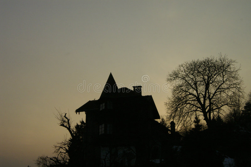 Witch house stock photography