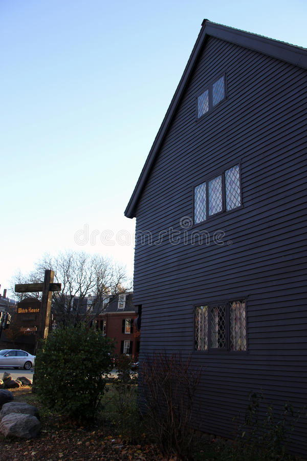 The Witch House, Salem, Massetuchetts. The last remaining building from the dark period of the Salem Witch Trials in the 1600s. This building was the home of one royalty free stock photo