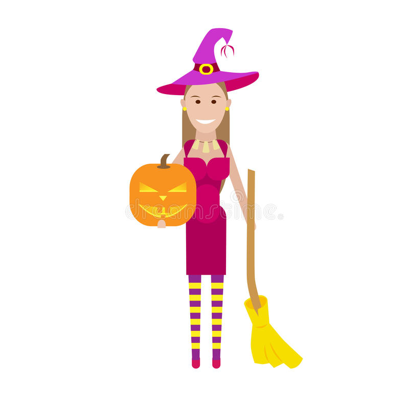 Download Witch stock vector. Image of halloween, background, vector - 33907567