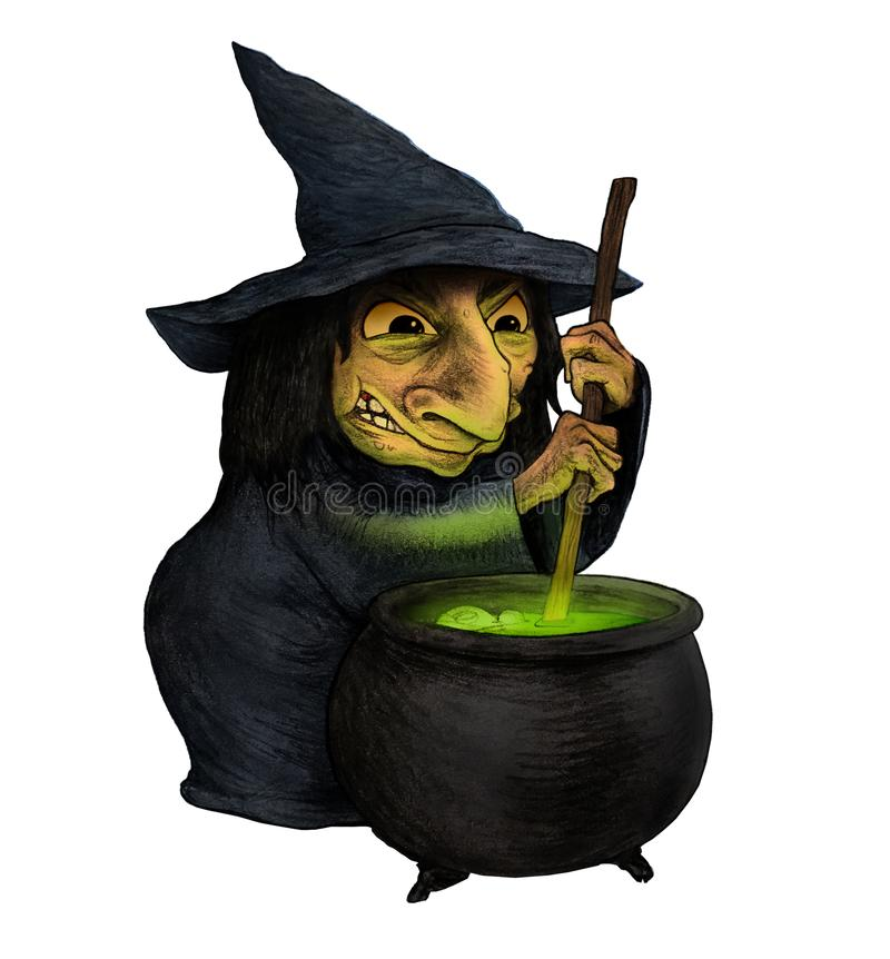 Witch Isolated On White Background stock photos