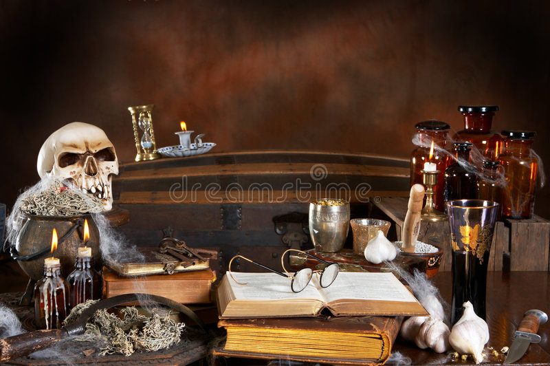 Witch kitchen royalty free stock image