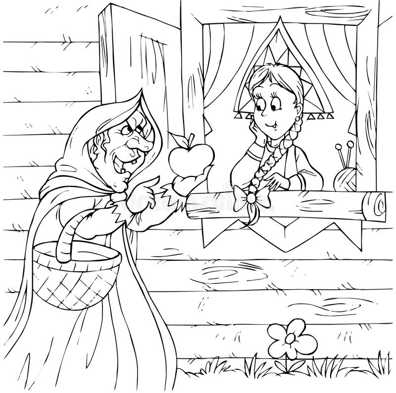 Download Witch and princess stock illustration. Illustration of funny - 15045462