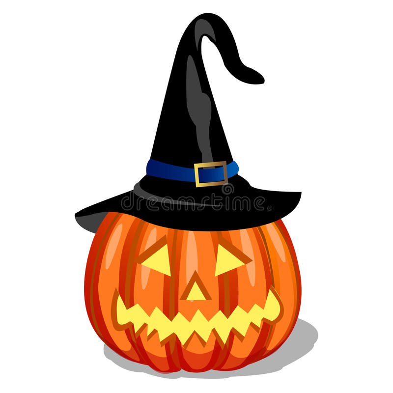 Witch Pumpkin Royalty Free Stock Images