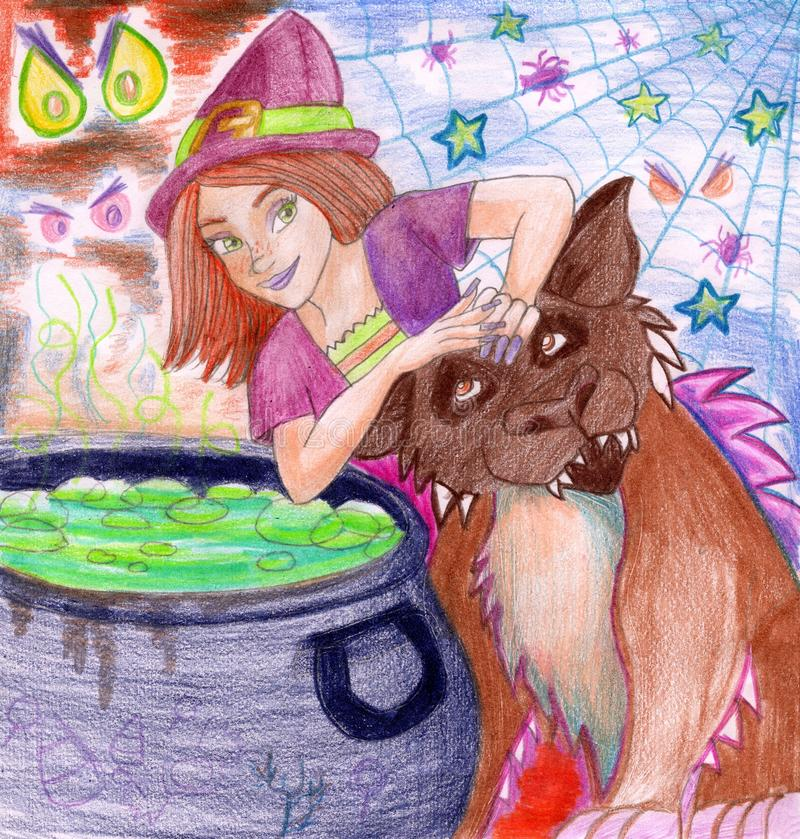 Download Witch's Brew on Haloween stock illustration. Image of young - 10367265
