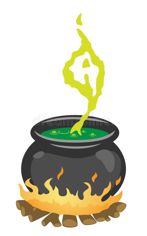 Download The Witch's Cauldron stock vector. Image of prepare, huge - 16081443