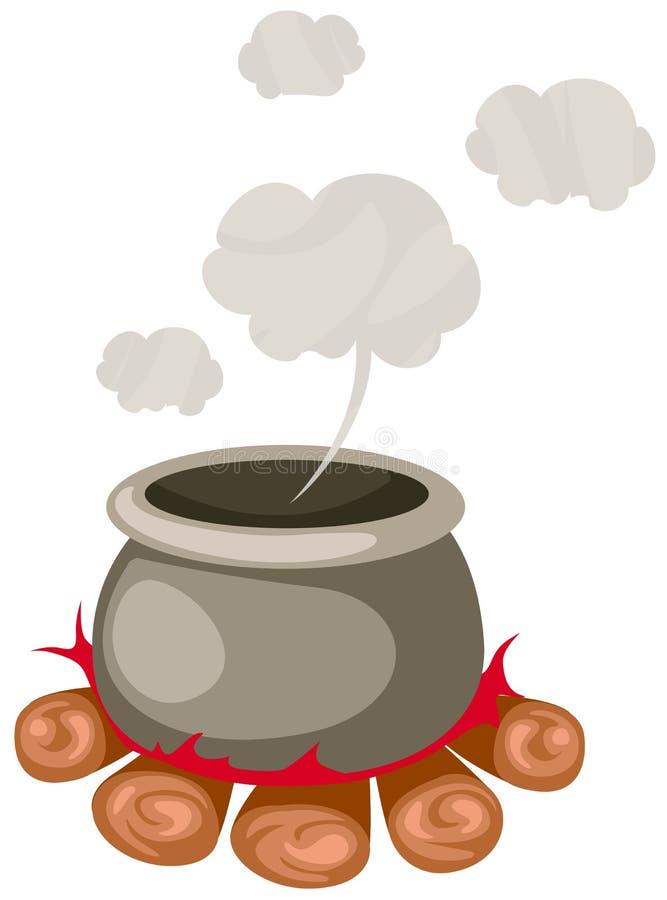 Witch's Cauldron stock illustration