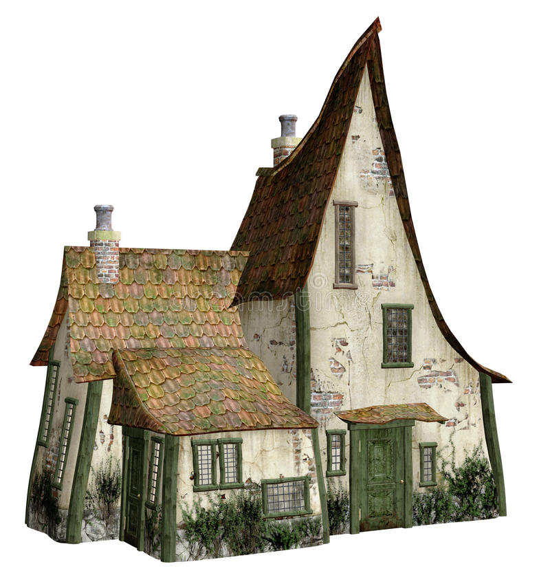 Witch 39 s cottage 2 stock illustration illustration of for Witches cottage house plans