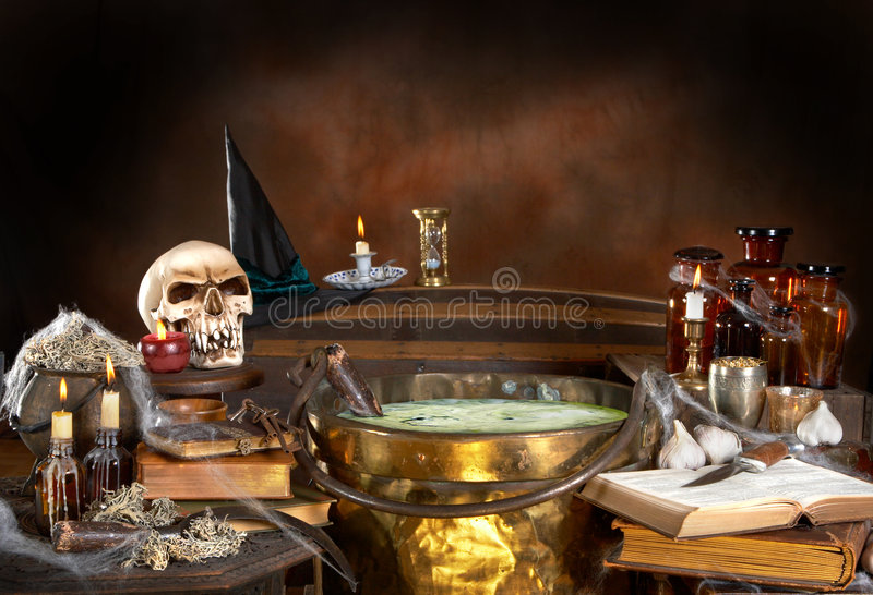 Witch's kitchen stock images
