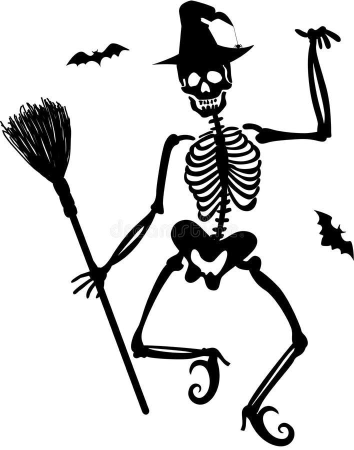 Free Witch Skeleton Royalty Free Stock Photo - 45663425