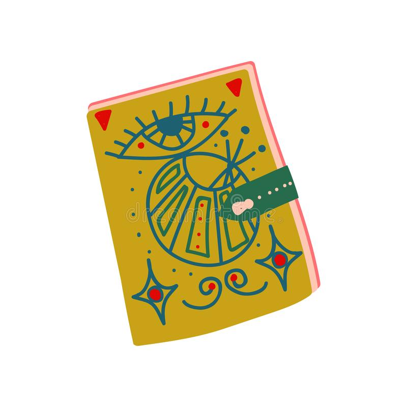 Witch Spell Book, Magic Object, Witchcraft Attribute Vector Illustration. On White Background vector illustration