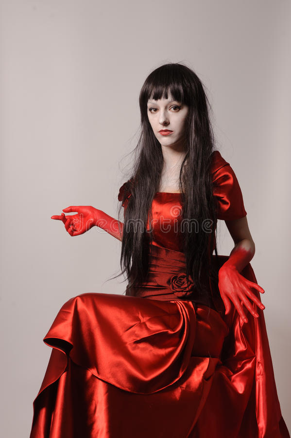Download Witch Vampire With Black Hairs Stock Image - Image of harridan, make: 37689093