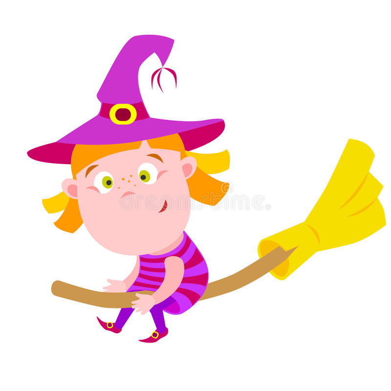 Download Witch stock vector. Illustration of child, vector, flying - 31591451