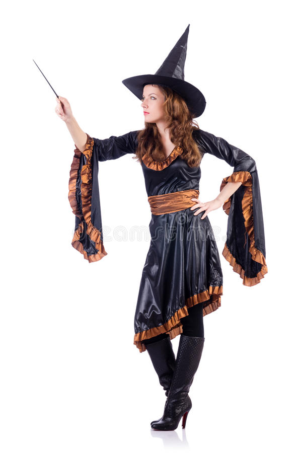 Witch With Wand Royalty Free Stock Image