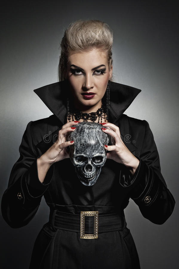 Free Witch With A Scull Stock Photos - 10891423