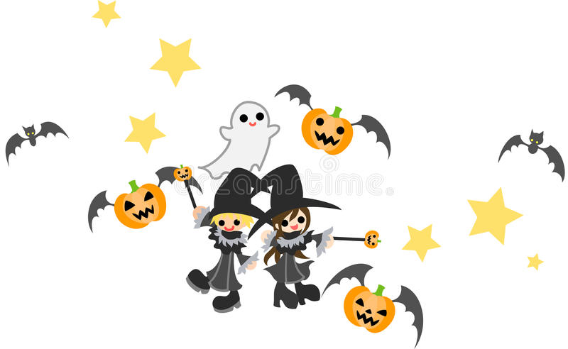 Download Witch & Wizard stock vector. Image of holiday, illustrator - 26542571