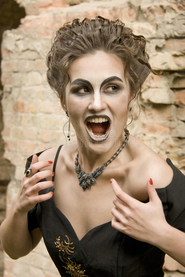 Download Witch woman stock photo. Image of devil, scream, vampire - 27838660