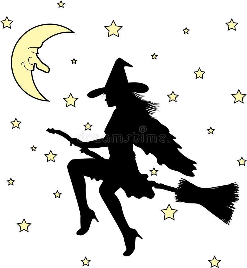 Witch01 ilustración del vector