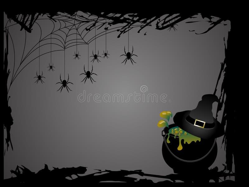 Witches cauldron stock illustration