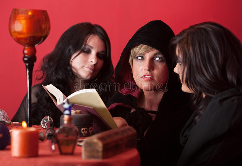 Witches Recite Spells royalty free stock photos