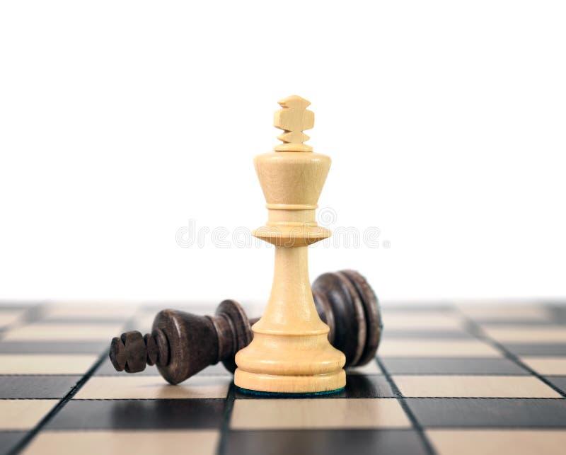 Wite et roi noir d'échecs photos stock