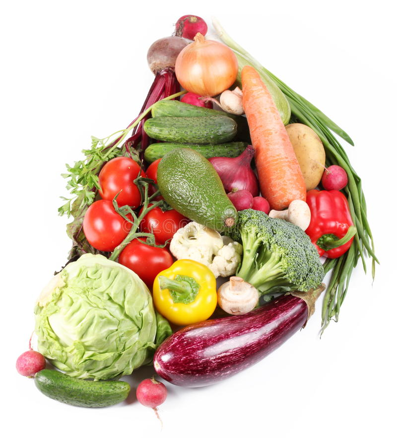 Free With Vegetables In A Semicircle Royalty Free Stock Photo - 14501255