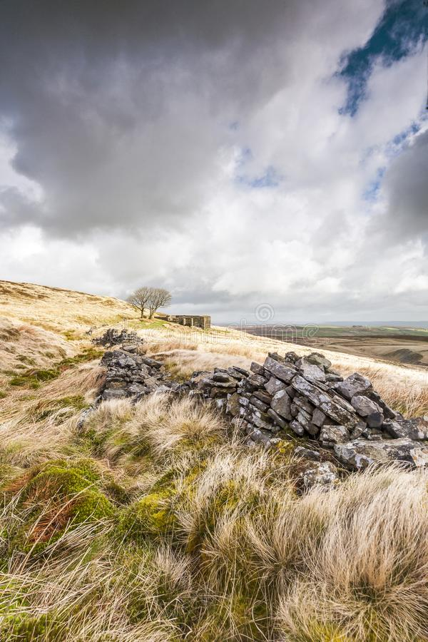 Withens superior Wuthering Heights imagens de stock