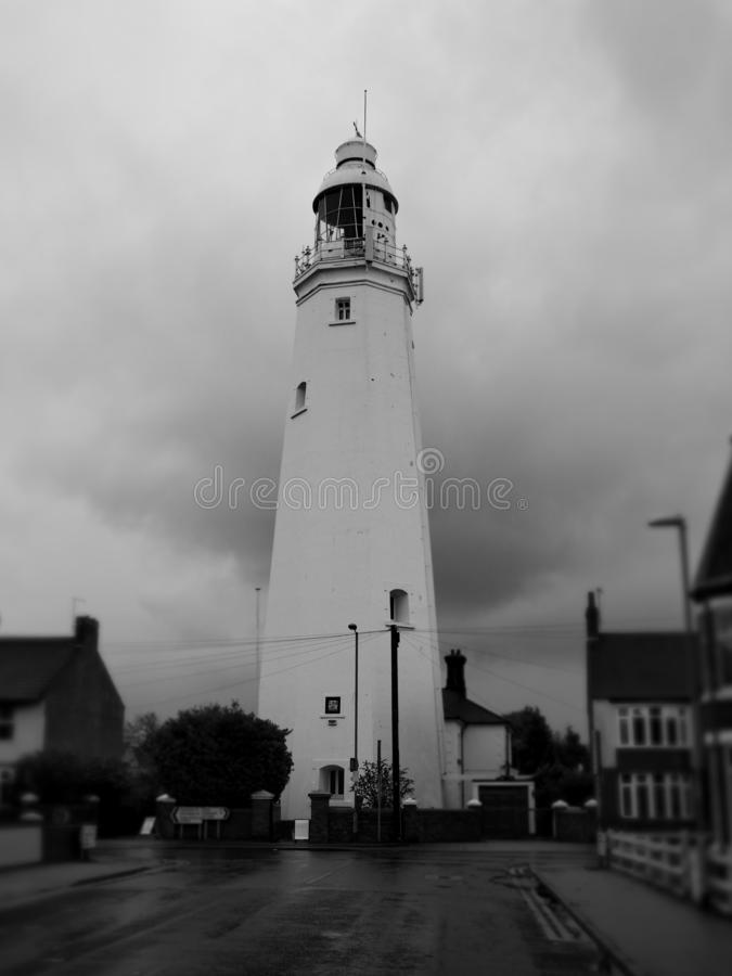 Withernsea Lighthouse, an inland lighthouse that stands in the middle of the town stock image