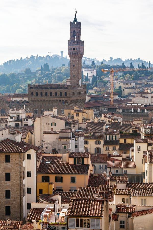 Withf Palazzo Vecchio da skyline em Florença imagens de stock