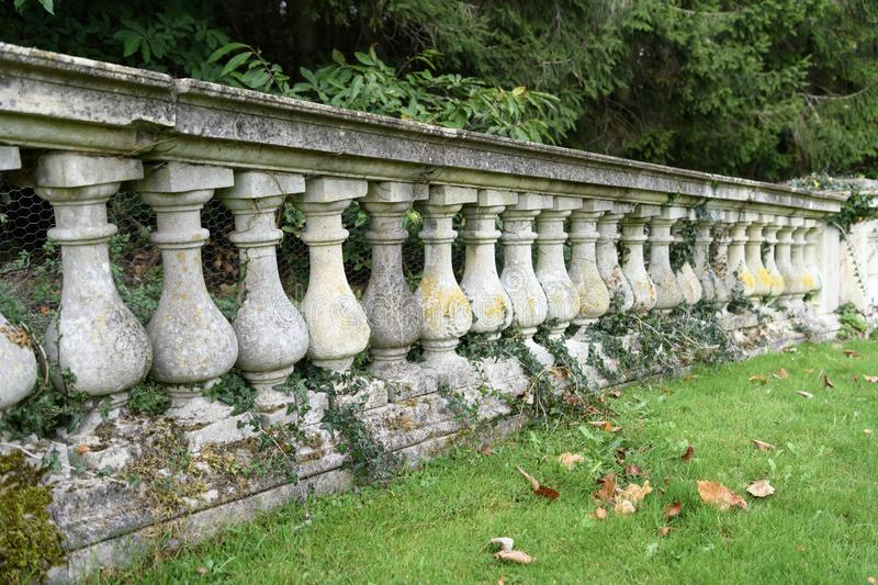 Witley Court and garden. Witley Court ruins and garden in England stock photo
