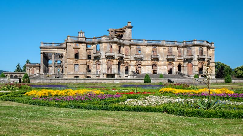 Witley Dworski i formalny ogród, Worcestershire, Anglia obrazy royalty free