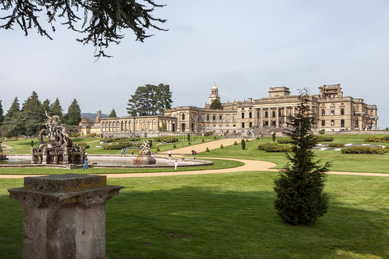 WITLEY-HOF, GROTE WITLEY/WORCESTERSHIRE - 10 APRIL: Witleyco stock foto's