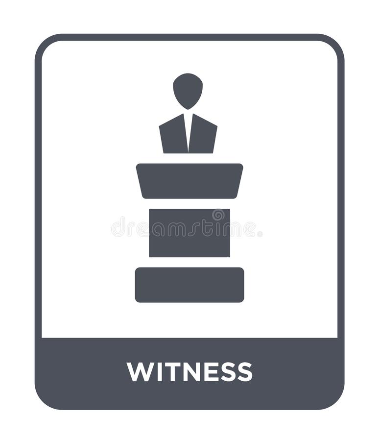 witness icon in trendy design style. witness icon isolated on white background. witness vector icon simple and modern flat symbol royalty free illustration