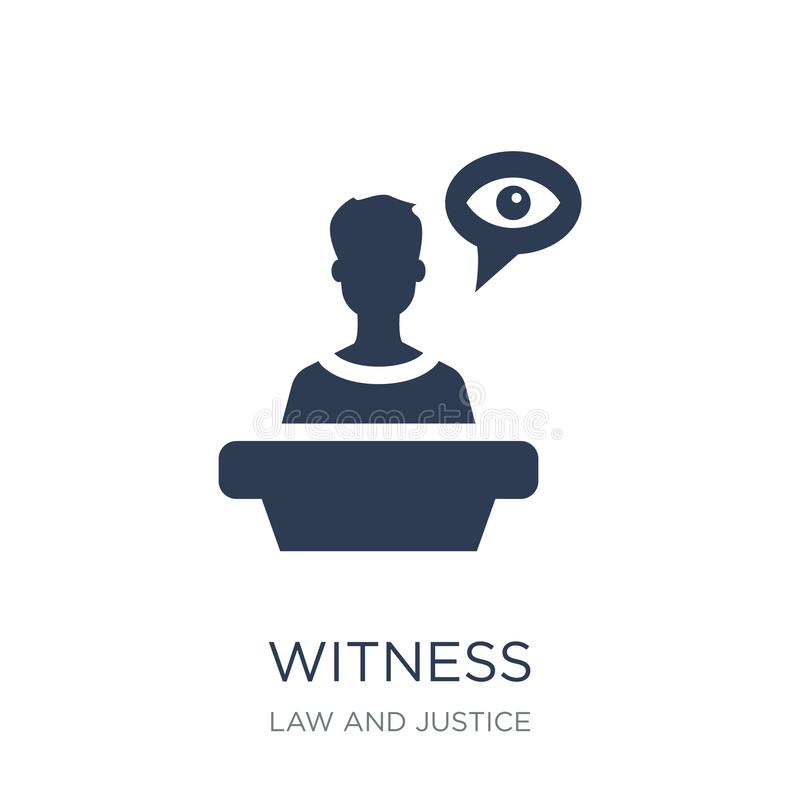 Witness icon. Trendy flat vector Witness icon on white background from law and justice collection vector illustration
