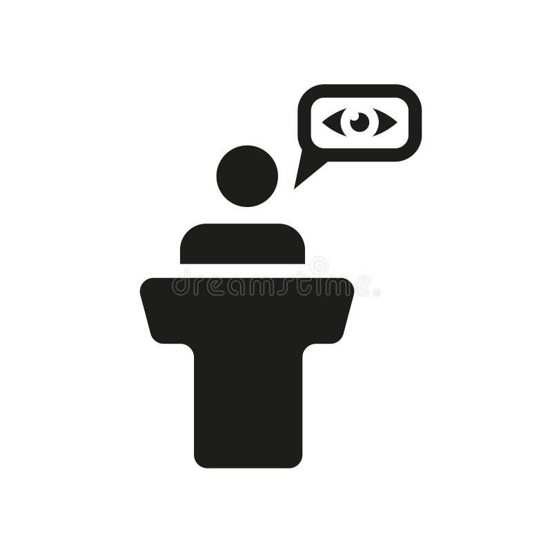 Witness icon. Trendy Witness logo concept on white background fr stock illustration