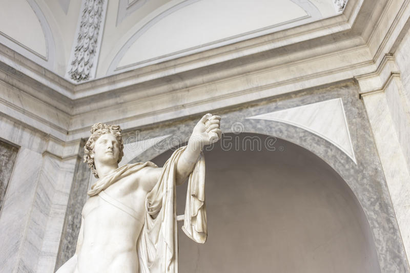 Witness. Marble statue with witness stock photo