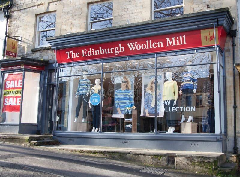 The retail outlet Edinburgh Woollen Mill in Witney, Oxfordshire UK. Witney, Oxfordshire, UK 02 28 2020 The retail outlet The Edinburgh Woollen Mill in Witney UK stock photos