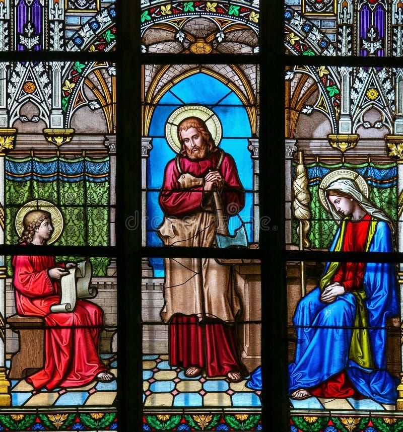 Witraż - Jezusowy studiowanie obraz stock