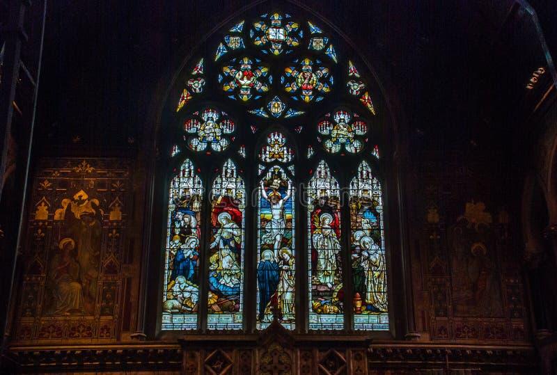 Witra?u okno ilustrowa? biblii opowie?ci w Chrystus ko?ci?? zdjęcie royalty free