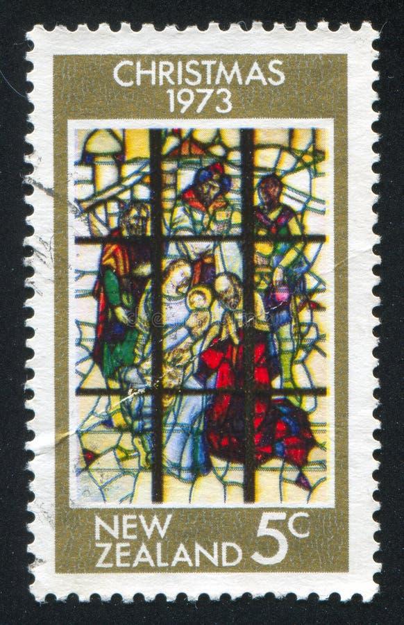 Witrażu okno na Religijnym temacie obraz royalty free