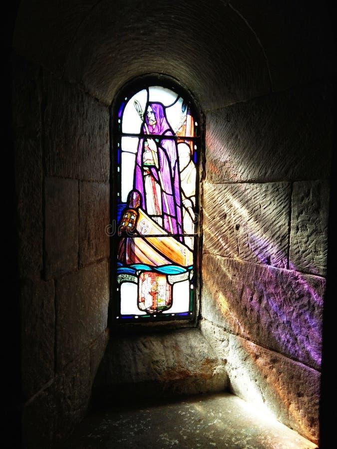 Witrażu St ` Margaret kaplicy Edynburg nadokienny kasztel zdjęcie stock