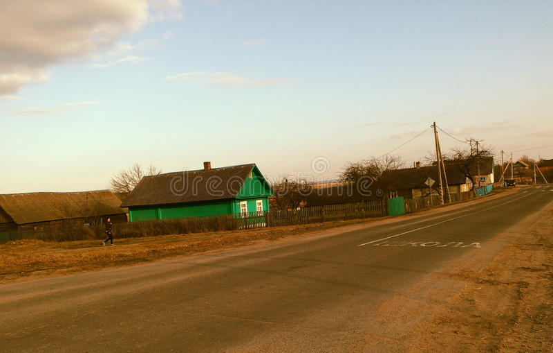 Witrussisch dorp royalty-vrije stock fotografie